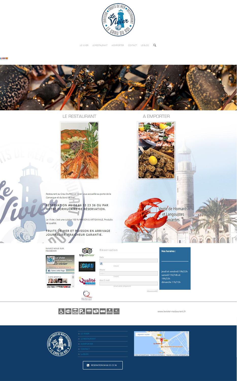 Grau Du Roi site internet le vivier restaurant