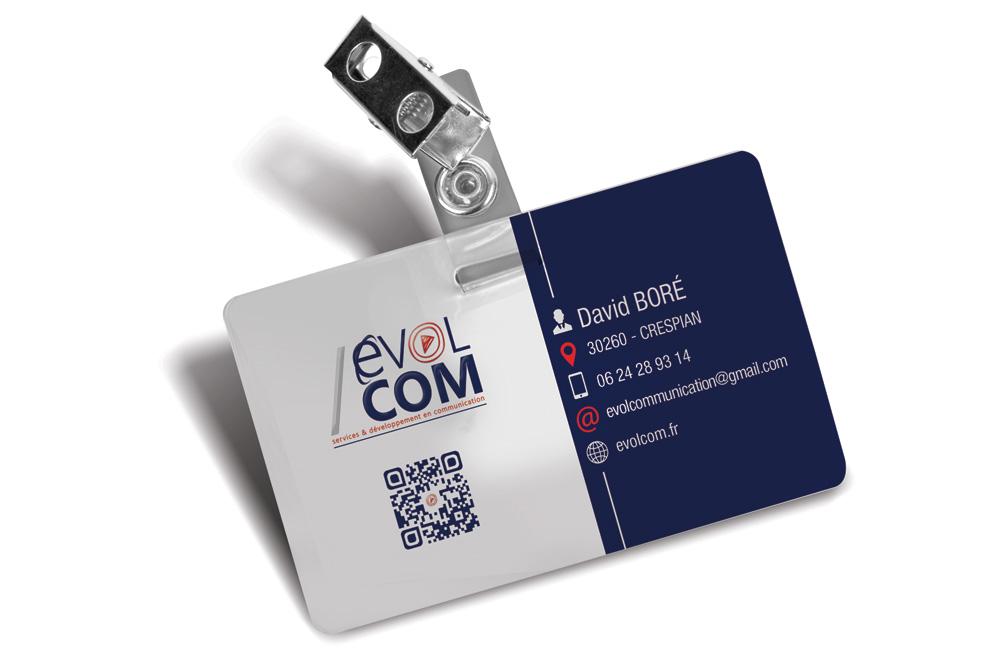 badge et carte de visite imprimé