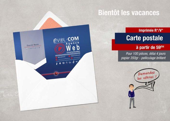 carte postale imprimé impression
