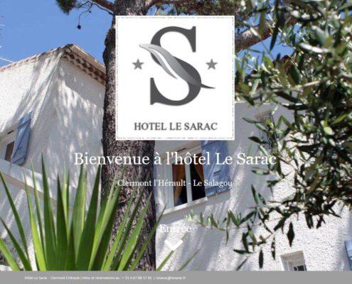 Creation de site internet sur clermont l'hérault d'un hotel