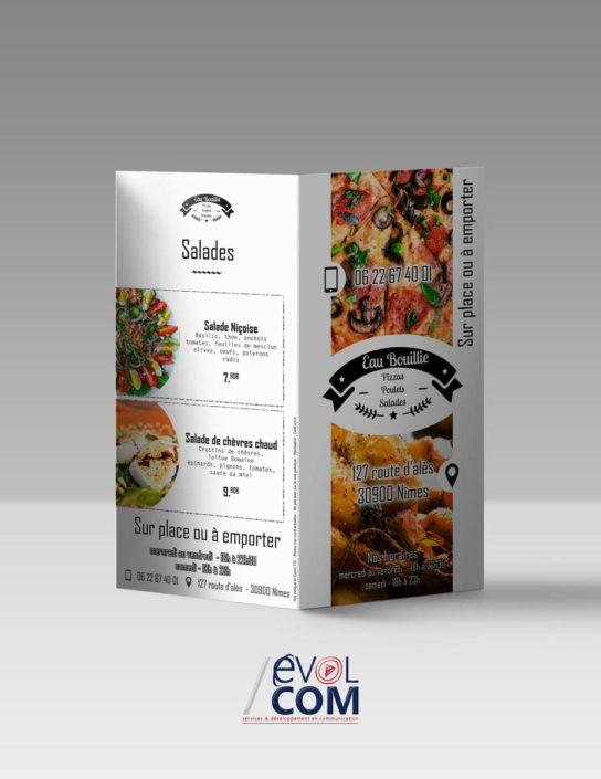 creation et impression de flyer depliant nimes pizzeria snack