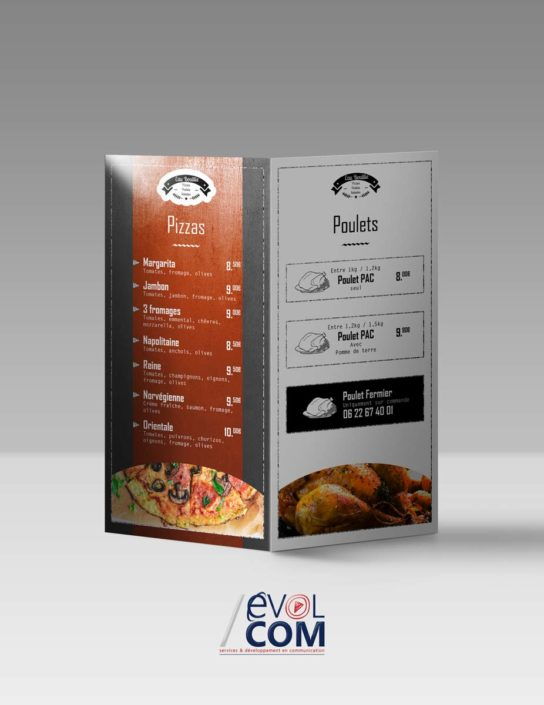 creation et impression de flyer depliant nimes pizzeria snack
