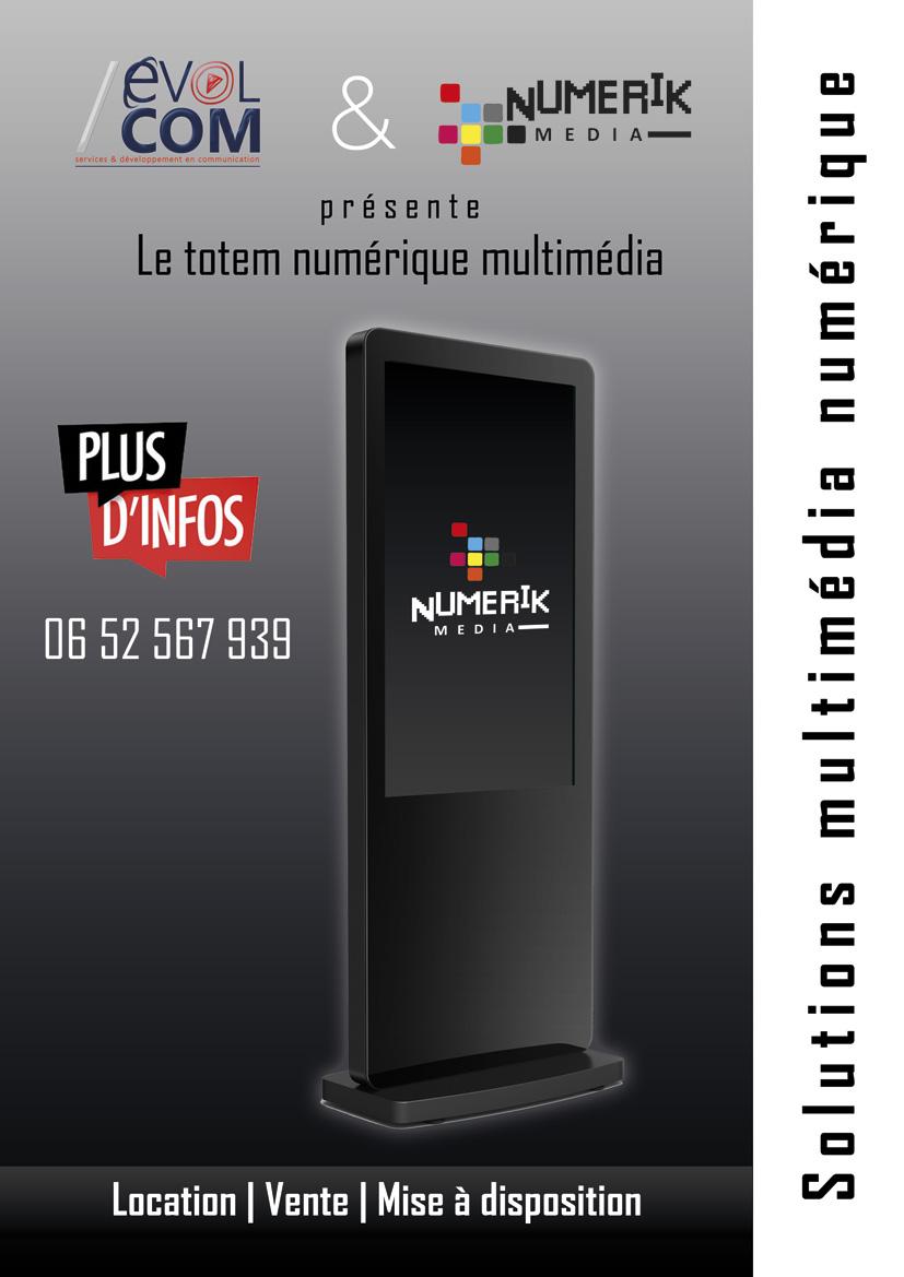 location de totem ecran multimedia numerique gard nimes