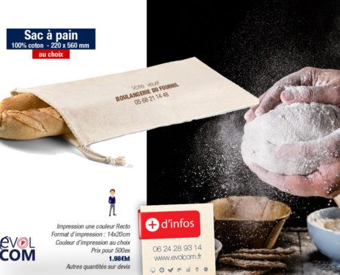impression sac à pains dans le Gard Nîmes Alès boulangerie
