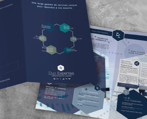 impression plaquette brochure sur Alès Gard