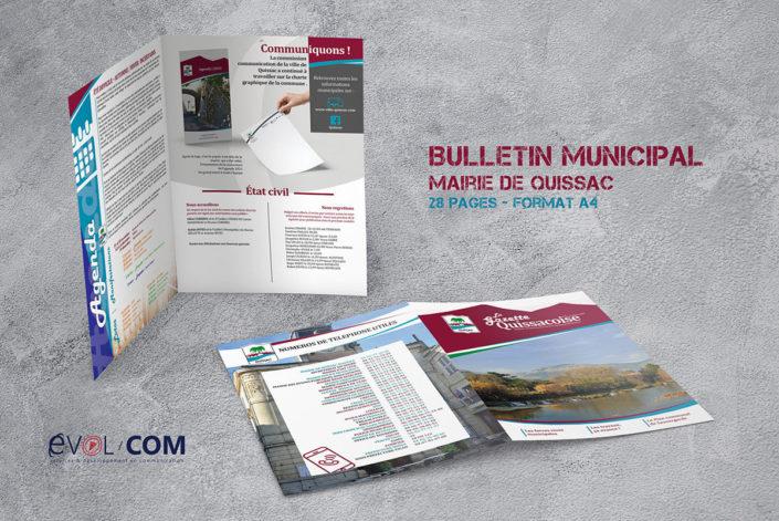 création et impression bulletin municipal gard quissac