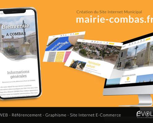Mairie de Combas - Création site Internet Municipal Gard Hérault