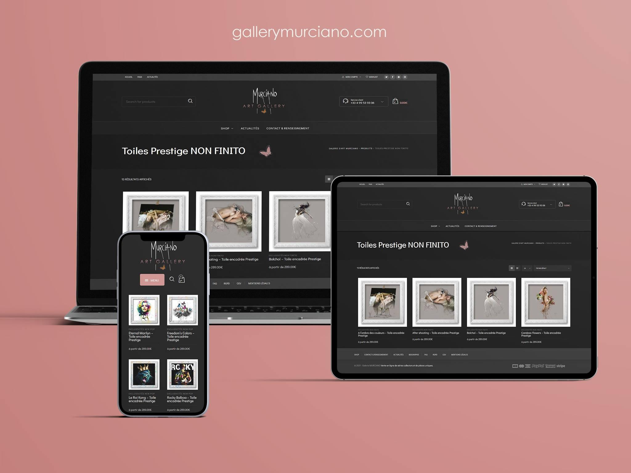 Creation de site internet pour un artiste - peinture patrice murciano